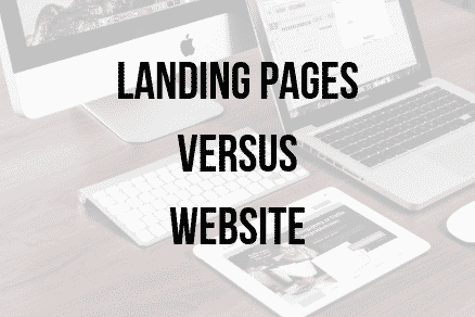 landing pages versus a website page