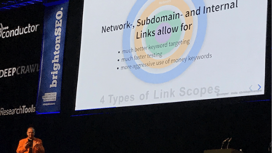 Christoph Cemper Internal Linking BrightonSEO
