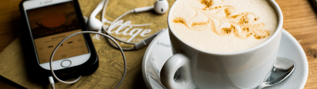 Coffee and podcasts - content marketing